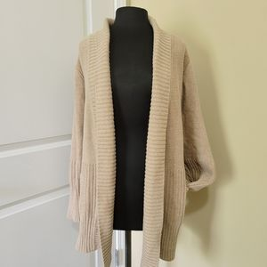 H by Halston Tan Cardigan with Pockets